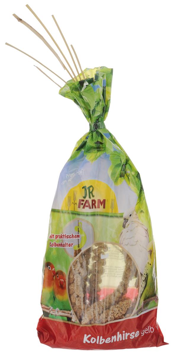 Лакомство для птиц JR Farm Ветка просо желтого, 250 г25564/2248Лакомство для птиц JR Farm Ветка просо желтого - подкормка превосходного качества. Здоровое кормовое поведение вашего питомца, как в дикой природе. Идеально подходит для волнистых попугайчиков, канареек и экзотических птиц. Состав: 100% желтое просо. Пищевая ценность: белок 10,3%, жиры 4,2%, клетчатка 7,9%, зола 2,6%. Вес: 250 г. Товар сертифицирован.