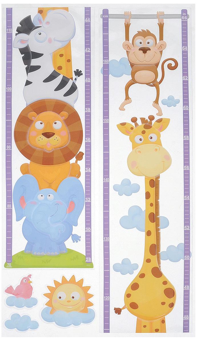 Наклейки для интерьера Room Decoration Ростомер. Африка, объемные, 32 х 57 см наклейки для интерьера room decoration
