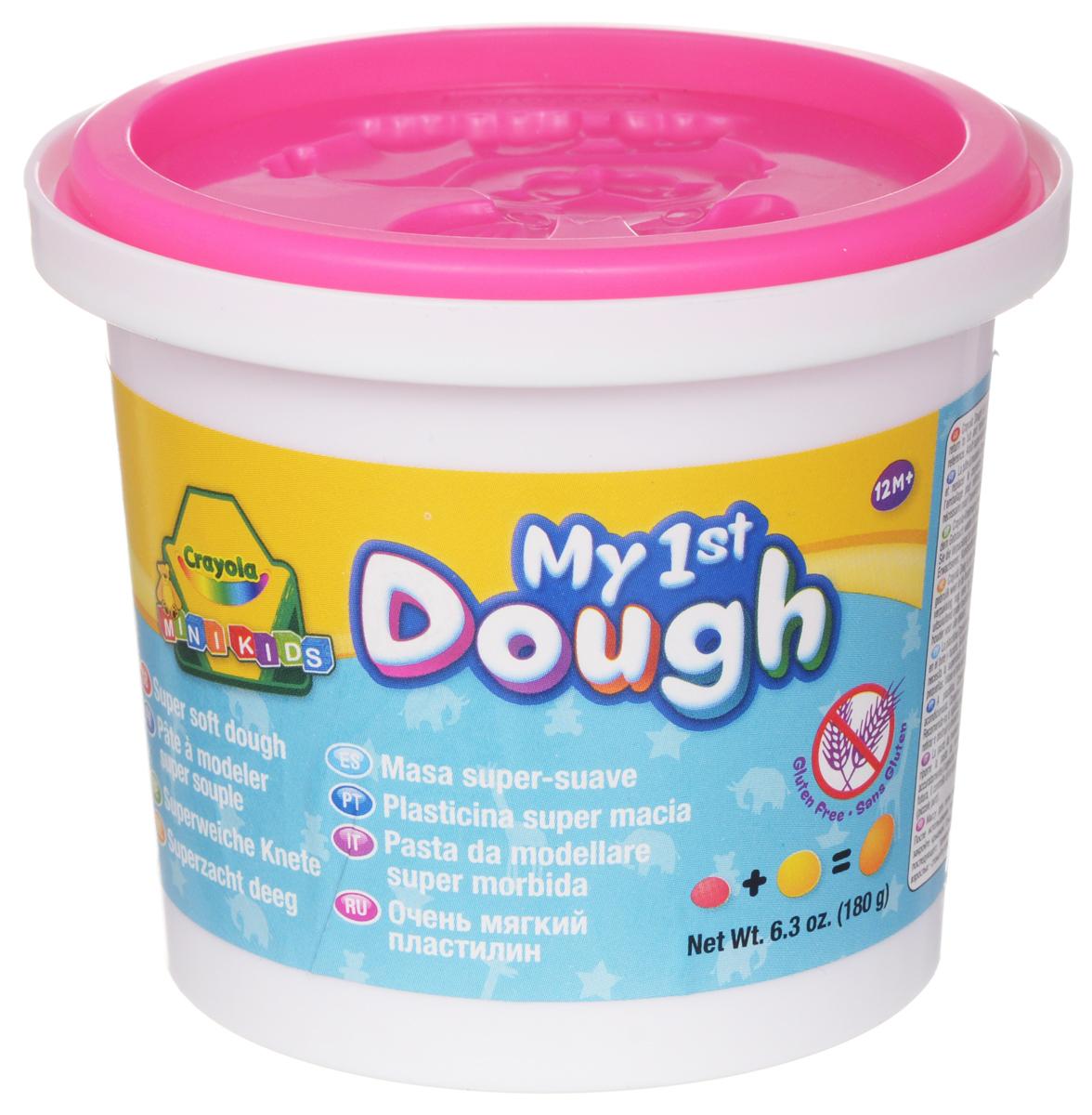 Crayola Масса для лепки My 1st Dough Зайчик цвет розовый7945_заяц розовыйМасса для лепки Crayola My 1st Dough. Зайчик, предназначенная для лепки и моделирования, поможет малышу развить творческие способности, воображение и мелкую моторику рук. Очень мягкий, пластилин хорошо мнется и быстро высыхает. Окрашен безопасным красителем. В крышке и донышке имеются формочки в виде животных. Лепка из пластилина - необычайно занимательный процесс не только для детей, но и для взрослых. Объем: 180 грамм.