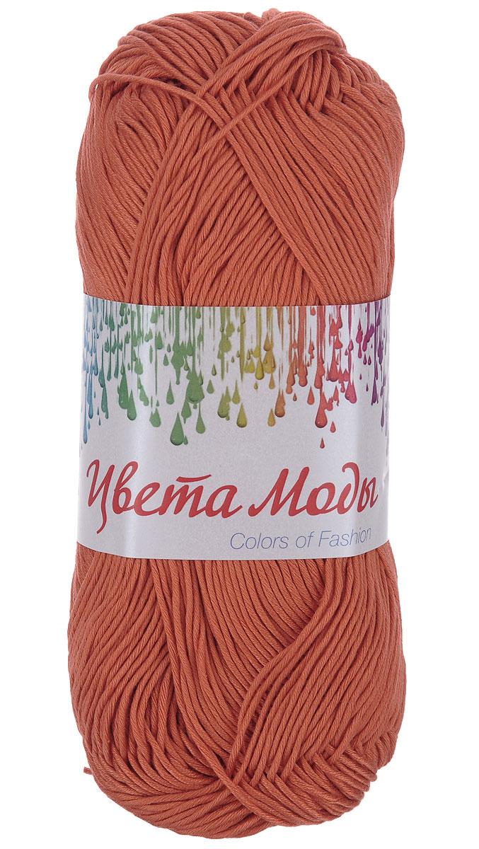 Нитки вязальные Цвета моды, хлопчатобумажные, цвет: насыщенный оранжевый, 190 м, 75 г, 4 шт0213804611778Нитки Цвета моды - это мерсеризованные нити, изготовленные из 100% хлопка и предназначенные для ручного вязания. Обладают ярким устойчивым окрасом, цвет изделия навсегда сохранит первозданный оттенок. Благодаря хлопчатобумажному составу нитей, связанные изделия будут экологически чистыми и безопасными в носке. Ниточка очень мягкая и податливая, хорошо скручена. С такими нитями вы сможете создать стильные, красивые и модные вещи, которые будут только у вас! Состав: 100% хлопок. Количество мотков: 4. Длина нити: 190 м. Количество сложений: 24. Толщина нити: 400 Текс.