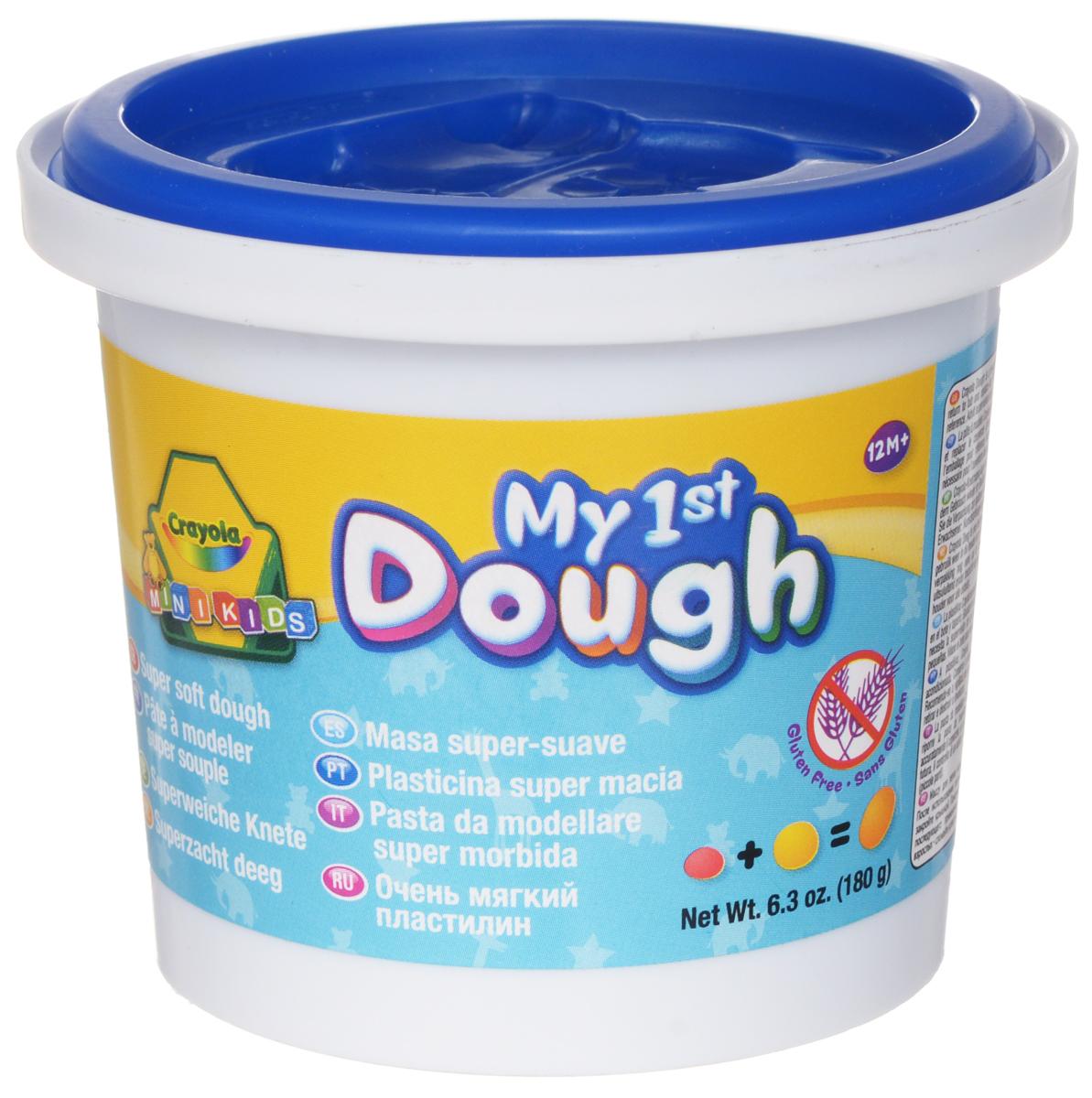Crayola Масса для лепки My 1st Dough Белочка цвет синий