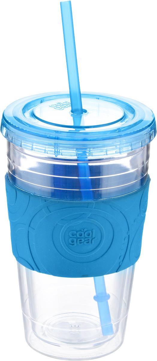 Кружка дорожная Cool Gear Eco 2 Go. Simple для холодных напитков, с крышкой, с трубочкой, цвет: прозрачный, голубой, 600 мл1191_прозрачный, голубойКружка дорожная Cool Gear Eco 2 Go. Simple, изготовленная из высококачественного пластика, выполнена в виде стаканчика. Закручивающаяся крышка снабжена отверстием для трубочки (входит в комплект). Кружка предназначена для холодных напитков и идеально подходит для того, чтобы взять с собой в дорогу воду, морс, смузи или шейк. Двойные стенки дольше сохраняют напиток холодным. Резиновый ободок на корпусе обеспечивает надежный хват и комфорт во время использования. Такая кружка - отличное решение для прогулки, пикника или автомобильной поездки. Оптимальный объем позволит взять с собой большую порцию напитка. Сохраните напиток холодным даже в самый жаркий день. Не рекомендуется использовать в микроволновой печи и мыть в посудомоечной машине. Диаметр кружки (по верхнему краю): 10 см. Диаметр основания кружки: 6,5 см. Высота кружки (с учетом крышки): 16,5 см. Длина трубочки: 22,5 см.