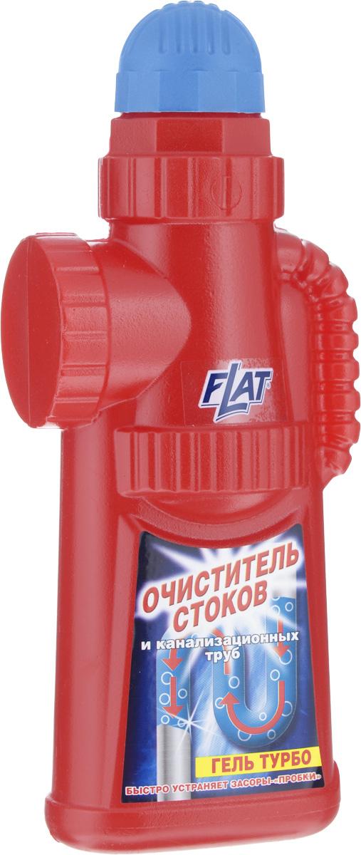 Очиститель стоков и канализационных труб Flat Гель турбо, 900 г4600296001055Очиститель стоков и канализационных труб Flat Гель турбо - это высокоэффективное средство для устранения засоров и неприятных запахов в стоках сливных труб и раковин. Средство действует на всем протяжении труб, быстро растворяя остатки пищи, жир, грязь, волосы и другие загрязнения. Очиститель безопасен для любых видов труб, в том числе пластиковых, но не предназначен для медных и резиновых труб и устранения засоров в туалете. Состав: вода, гидроксид натрия, гипохлорид натрия, н-ПАВ менее 5%, а-ПАВ менее 5%. Товар сертифицирован.