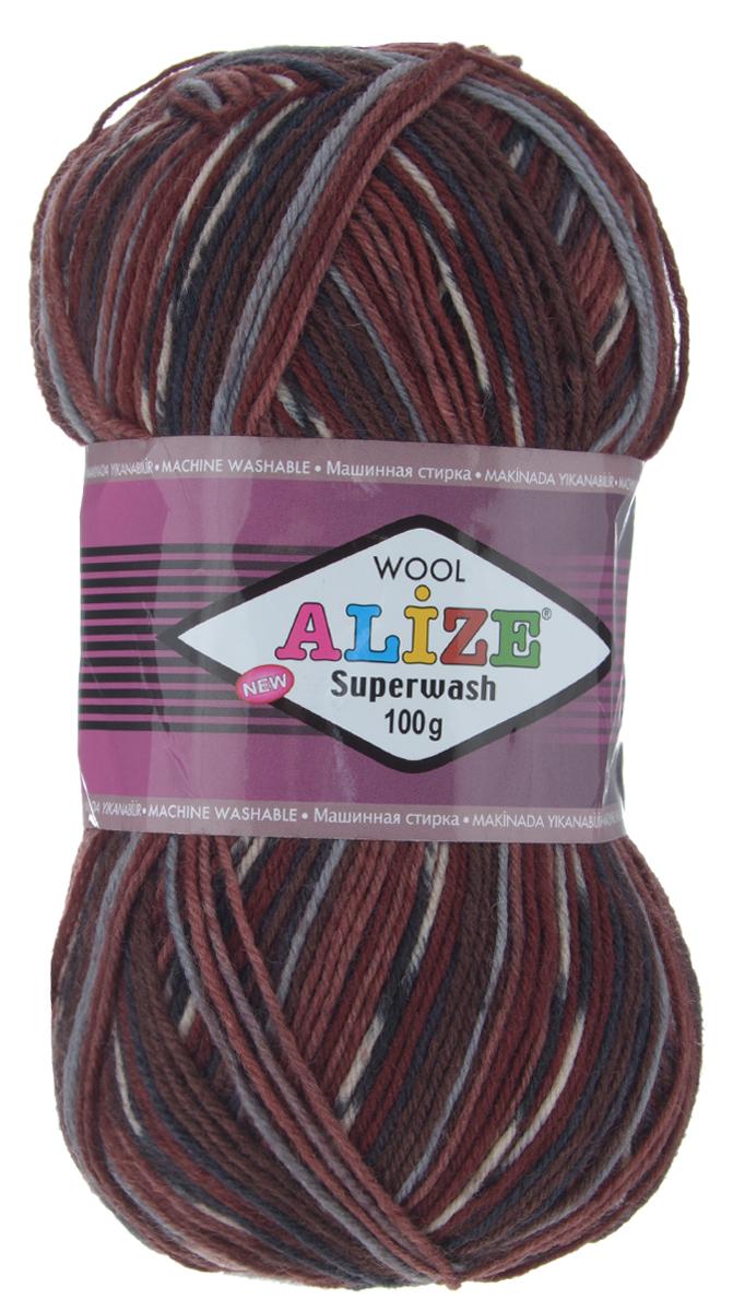 Пряжа для вязания Alize Superwash, цвет: темно-бордовый, темно-коричневый, серый (4448), 420 м, 100 г, 5 шт549365_4448Пряжа для вязания Alize Superwash изготовлена из 75% шерсти и 25% полиамида. Пряжа упругая, эластичная, теплая, уютная и не колется, что очень подходит для детей и взрослых. Тонкая нитка прекрасно подойдет для вязки легких, но в тоже время теплых вещей. Пряжа легко распускается и перевязывается несколько раз, не деформируясь и не влияя на вид изделия. Натуральная шерстяная нить, обеспечивает изделию прекрасную форму. Рекомендуется ручная стирка при температуре 30°C. Рекомендуемый размер спиц 2-4 мм и крючка 1-3 мм. Толщина нити: 2 мм. Состав: 75% шерсть, 25% полиамид.