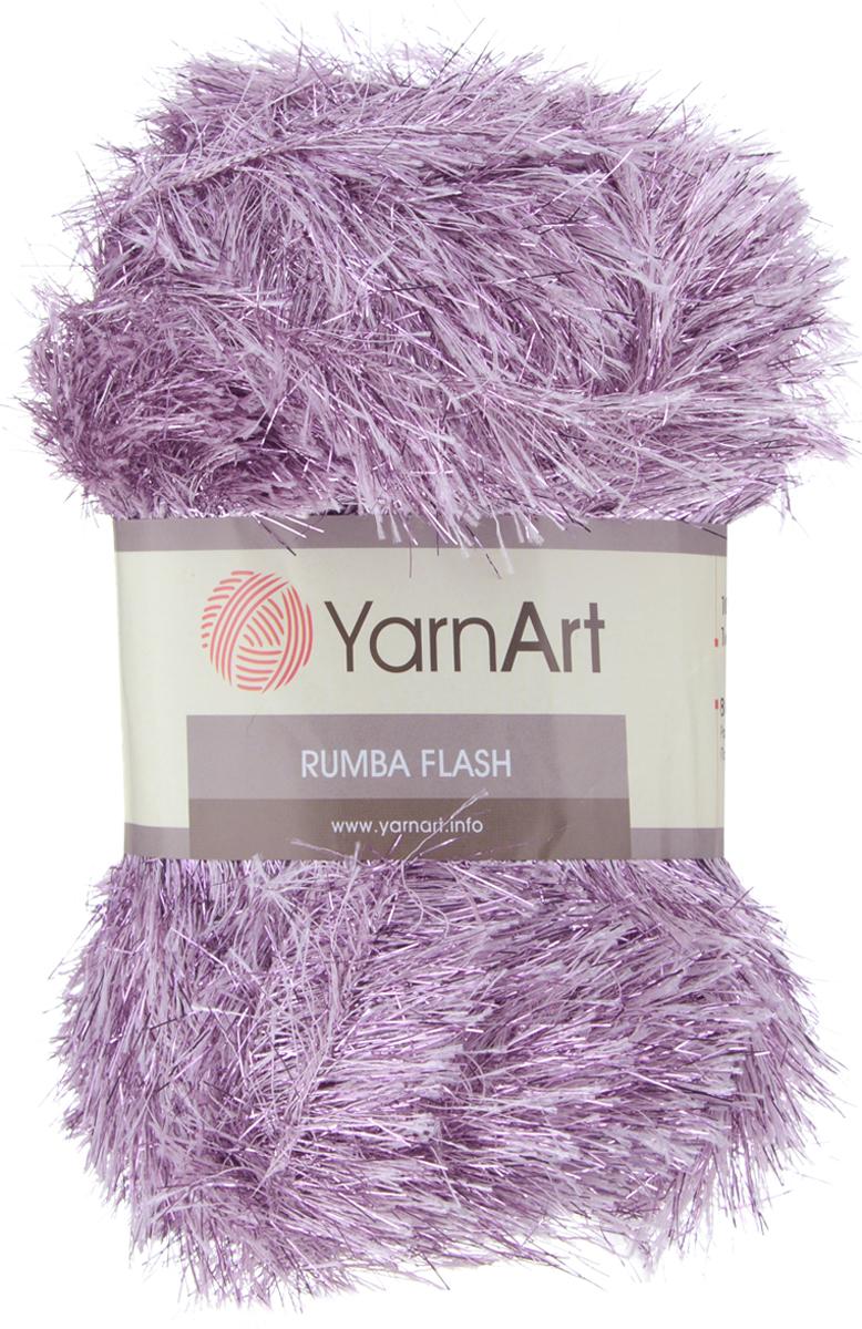 Пряжа для вязания YarnArt Rumba Flash, цвет: сиреневый (217), 160 м, 100 г, 5 шт372096_217Пряжа YarnArt Rumba Flash - это фантазийная пряжа типа травка с нитями металлик. Нить выглядит как шнурок с ворсом из полиэстера с вплетениями ворсинок люрекса. Пушистая демисезонная пряжа, но изделия получаются довольно теплыми. Блеск нити позволяет создавать эффектные детали одежды - жилет, джемпер, шапку, а также применять травку с блеском для отделки изделий из классической пряжи или травки без люрекса. YarnArt Rumba Flash позволяет креативно подходить к вязанию - пряжу можно использовать для изготовления игрушек, пледов и предметов декора. Петли ложатся ровно, нить не перекручивается, ворсинки не высыпаются, пушистость равномерная, полотно не перекашивается в процессе работы. Полотно из пряжи травка получается ворсистым и немного напоминает мех. Чтобы изделие приобрело наибольшую пушистость, вязать следует против шерсти. Готовое изделие эластичное, ноское, не электризуется, стабильно держит форму. Состав: 80% полиэстер, 20%...