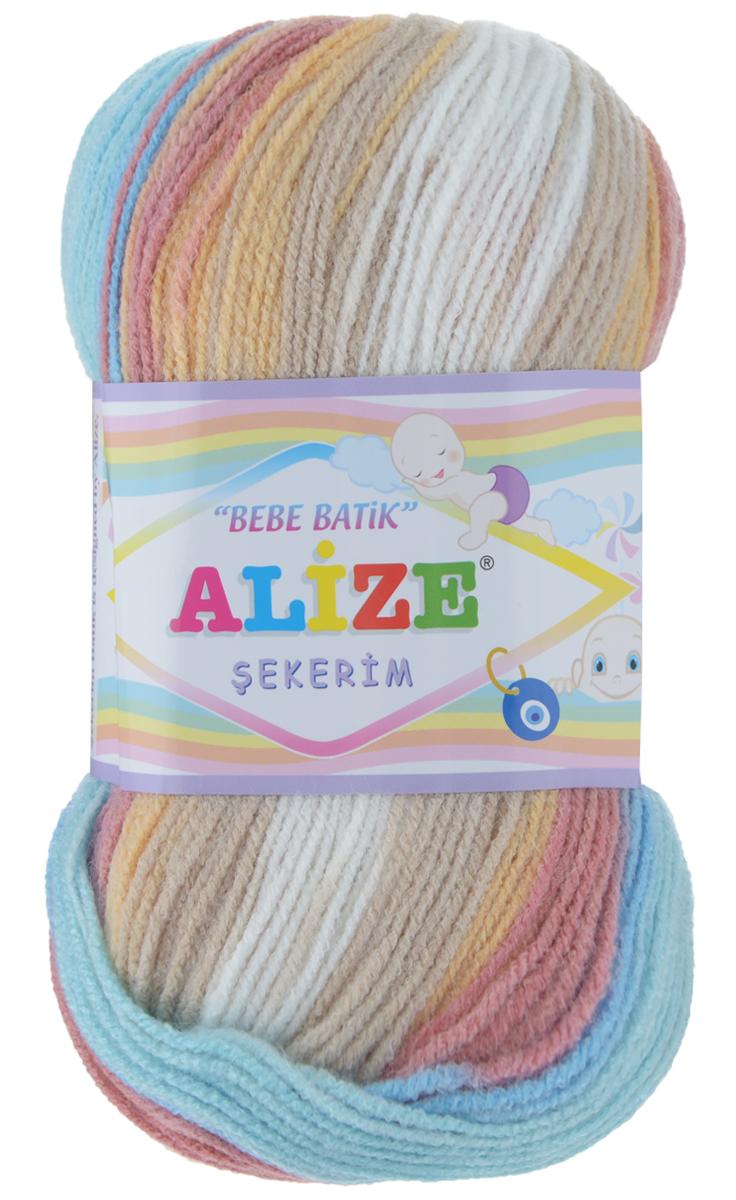 Пряжа для вязания Alize Sekerim Bebe Batik, цвет: верблюжий, голубой, белый (4796), 320 м, 100 г, 5 шт364106_4796Пряжа для вязания Alize Sekerim Bebe Batik изготовлена из акрила. Фантазийная пряжа для ручного вязания отлично подойдет для детских вещей. Ниточка мягкая и приятная на ощупь. Подходит для вязания спицами и крючком. Рекомендованные спицы 3-4 мм и крючок для вязания 2-4 мм. Состав: 100% акрил.