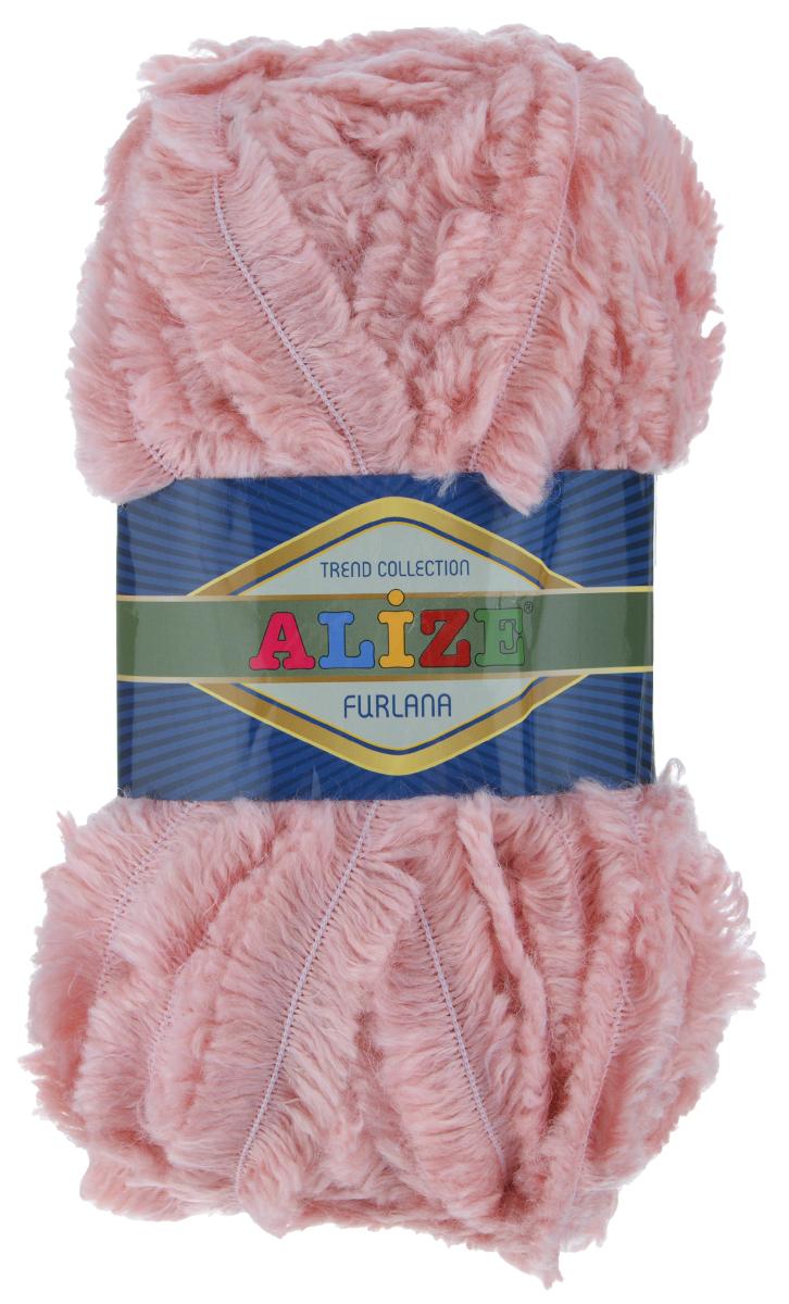 Пряжа для вязания Alize Furlana, цвет: розовый (161), 40 м, 100 г, 5 шт582007_161Alize Furlana - это полушерстяная пряжа для ручного вязания, имитирующая мех с натуральной текстурой. Нить плотно скручена, гибкая, послушная. Стойкое равномерное окрашивание обеспечивает широкую палитру оттенков, высокое качество материала и используемых красителей защищает от потери цвета. Соотношение шерсти и акрила - формула практичности. Высокие тепловые характеристики сочетаются с эстетикой, носкостью и простотой ухода за вещью. Классическая пряжа для зимнего сезона, может использоваться для детской и взрослой одежды. Alize Furlana - универсальная пряжа, которая будет хорошо смотреться в узорах любой сложности. Состав: 45% шерсть, 45% акрил, 10% полиамид.