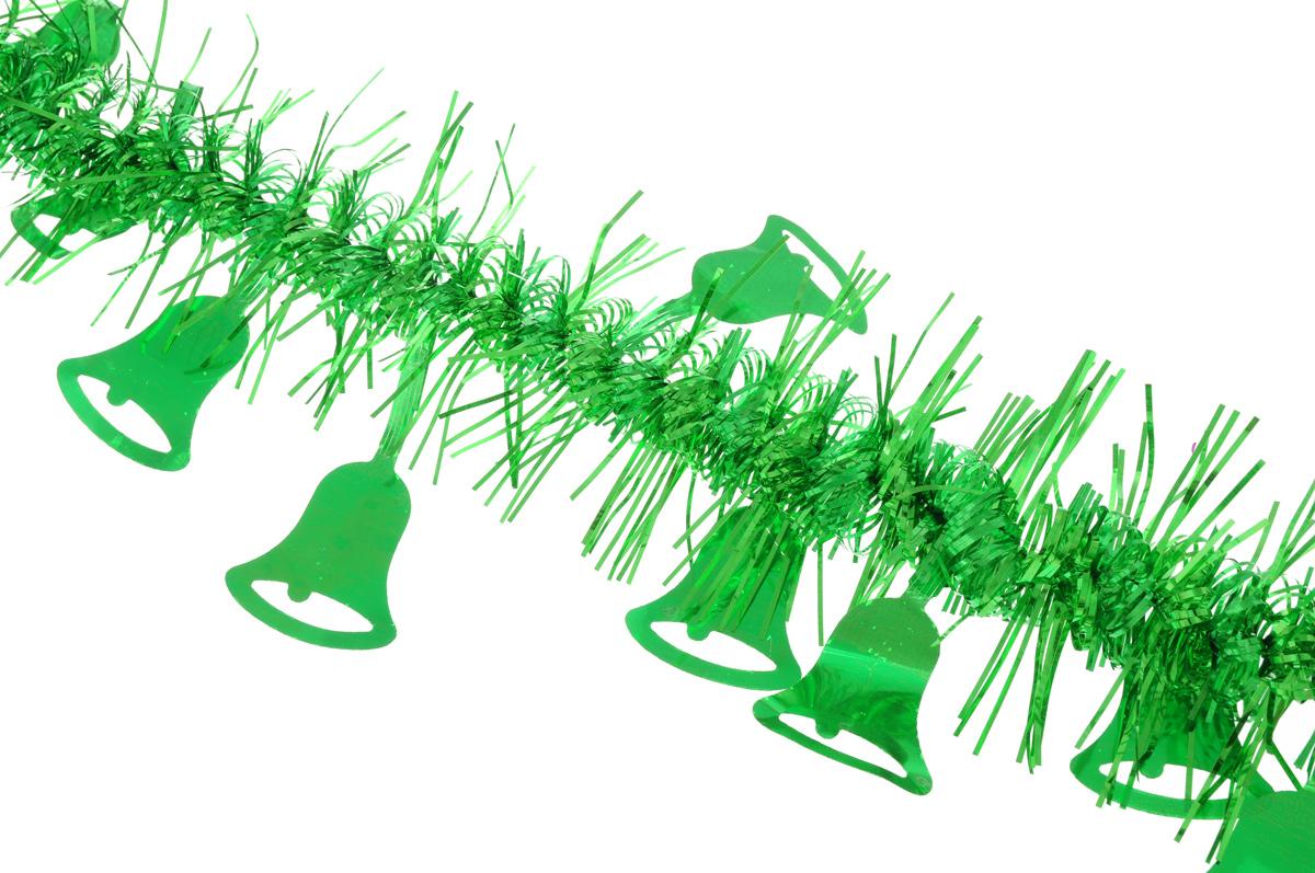 Мишура новогодняя Sima-land, цвет: зеленый, диаметр 2 см, длина 200 см. 706455706455_зеленыйНовогодняя мишура Sima-land, выполненная из фольги, поможет вам украсить свой дом к предстоящим праздникам. Мишура армирована, то есть имеет проволоку внутри и способна сохранять приданную ей форму. По всей длине изделие украшено фигурками из фольги в виде колокольчиков. Новогодней мишурой можно украсить все, что угодно - елку, квартиру, дачу, офис - как внутри, так и снаружи. Можно сложить новогодние поздравления, буквы и цифры, мишурой можно украсить и дополнить гирлянды, можно выделить дверные колонны, оплести дверные проемы.