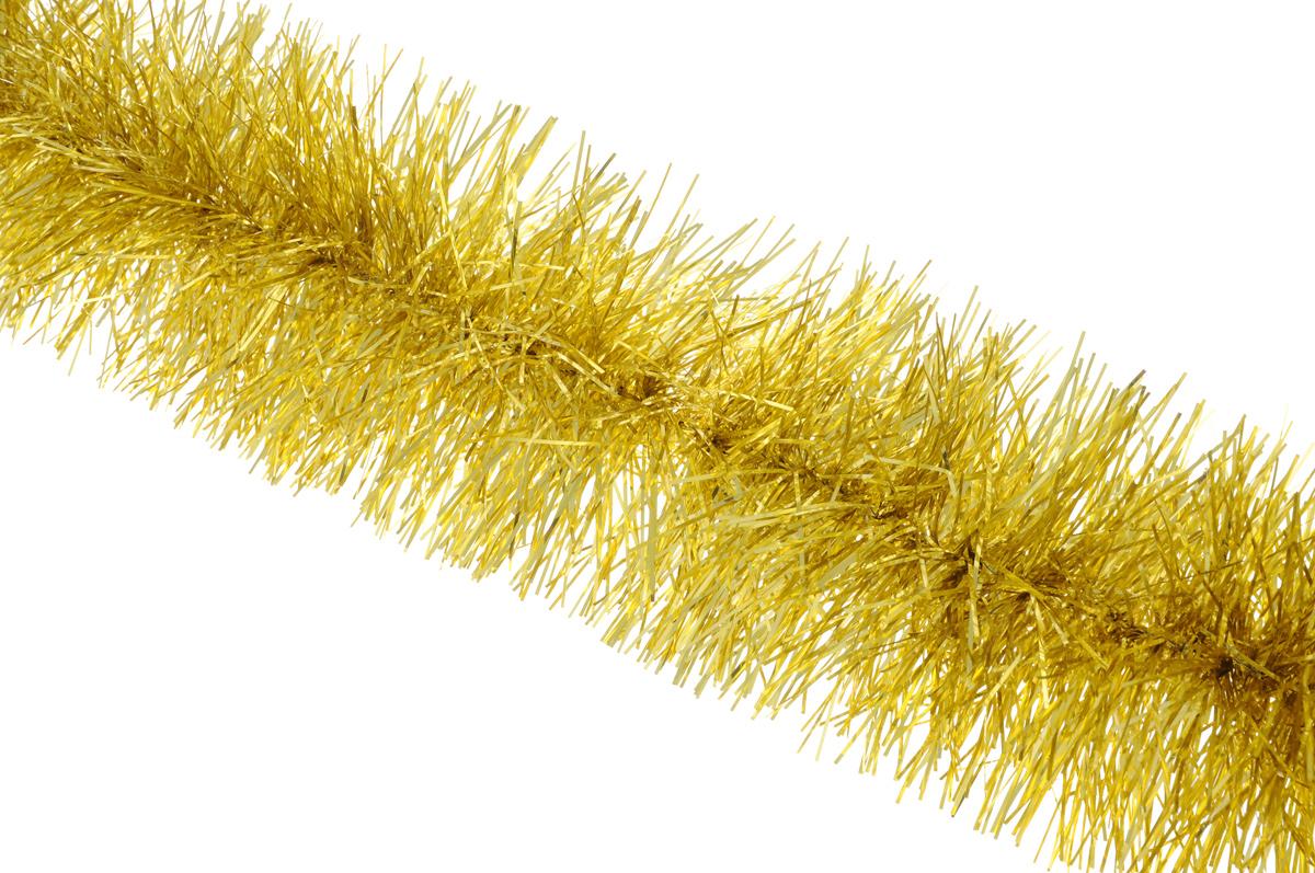 Мишура новогодняя Sima-land, цвет: золотистый, серебристый, диаметр 9 см, длина 165 см. 623233623233_золотистыйМишура новогодняя Sima-land, выполненная из фольги, поможет вам украсить свой дом к предстоящим праздникам. Мишура армирована, то есть имеет проволоку внутри и способна сохранять приданную ей форму. Новогодняя елка с таким украшением станет еще наряднее. Новогодней мишурой можно украсить все, что угодно - елку, квартиру, дачу, офис - как внутри, так и снаружи. Можно сложить новогодние поздравления, буквы и цифры, мишурой можно украсить и дополнить гирлянды, можно выделить дверные колонны, оплести дверные проемы.
