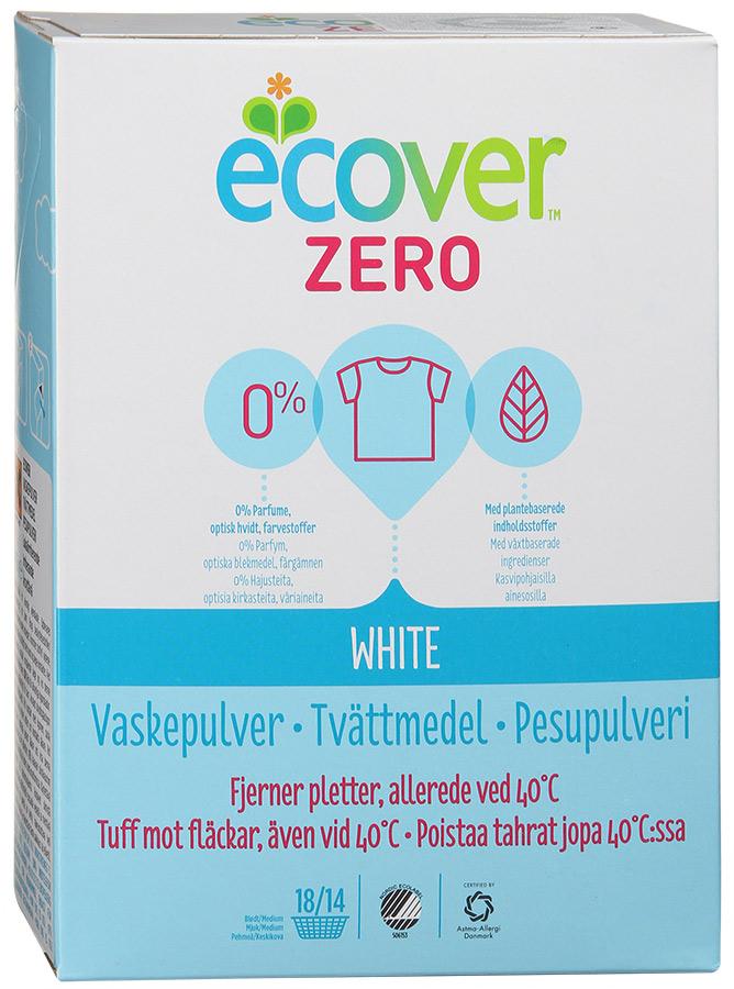 Экологический стиральный порошок Ecover Zero, для белого белья, 750 г40019Совершенно новый ультраконцентрированный гипоаллергенный универсальный стиральный порошок Ecover Zero для белого и нелиняющего цветного белья, созданный 100% на растительной и минеральной основе. Идеально подходит для беременных женщин, младенцев, детей и взрослых, склонных к аллергии и кожным заболеваниям. Сертифицирован Nordic Ecolabel, Danish Asthma-Allergy Association и Allergy UK, дерматологически протестирован. Улучшенная формула порошка Ecover Zero содержит небольшое количество бережного кислородного отбеливателя, который прекрасно удаляет пятна на одежде даже при стирке на низких температурах (30°С). Великолепно выполаскивается. Экономичный ультраконцентрат позволяет использовать меньше порошка и обеспечивает на 50% больше стирок! При машинной стирке не требуется добавление средств для смягчения воды и предотвращения образования накипи (типа Calgon). Без запаха. Не содержит нефтепродуктов, отдушек, ароматизаторов, оптических отбеливателей, пигментов, красителей, фосфатов....
