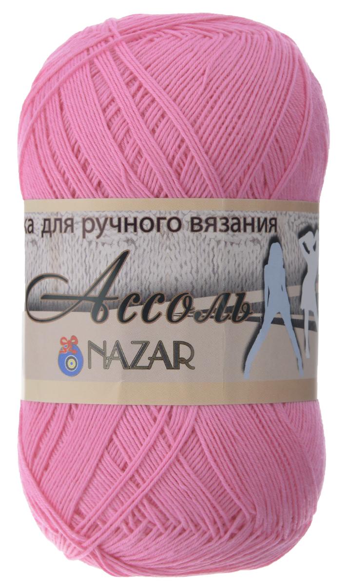 Пряжа для вязания Nazar Ассоль, цвет: розовый (1047), 500 м, 50 г, 10 шт349025_1047 розовыйNazar Ассоль - это превосходная пряжа, изготовленная из 100% хлопка. Пряжа не имеет эффекта ваты и позволяет вязать ажурные летние изделия спицами или крючком в 2 сложения или теплые вещи в 4-5 сложений. Из такой пряжи хорошо смотрятся рельефные узоры. Рекомендуемые спицы 2 мм, крючок 2 мм. Количество мотков: 10 шт. Состав: 100% хлопок.