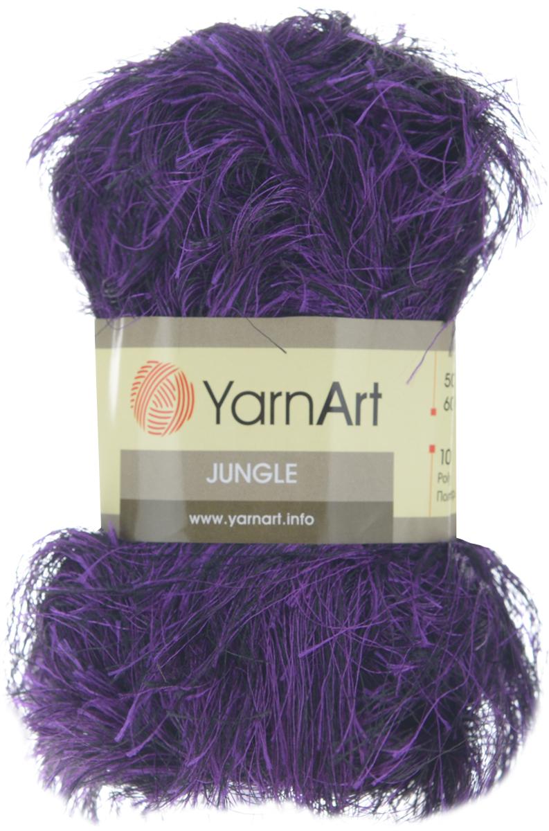 Пряжа для вязания YarnArt Jungle, цвет: фиолетовый (31), 60 м, 50 г, 10 шт372055_31Пряжа-травка для вязания YarnArt Jungle изготовлена из полиэстера. Предназначена для ручного вязания и идеально подходит для отделки. Готовый ворс получается равным 4 см. Рекомендуемый размер спиц и крючка: 6 мм. Комплектация: 10 мотков. Состав: 100% полиэстер.