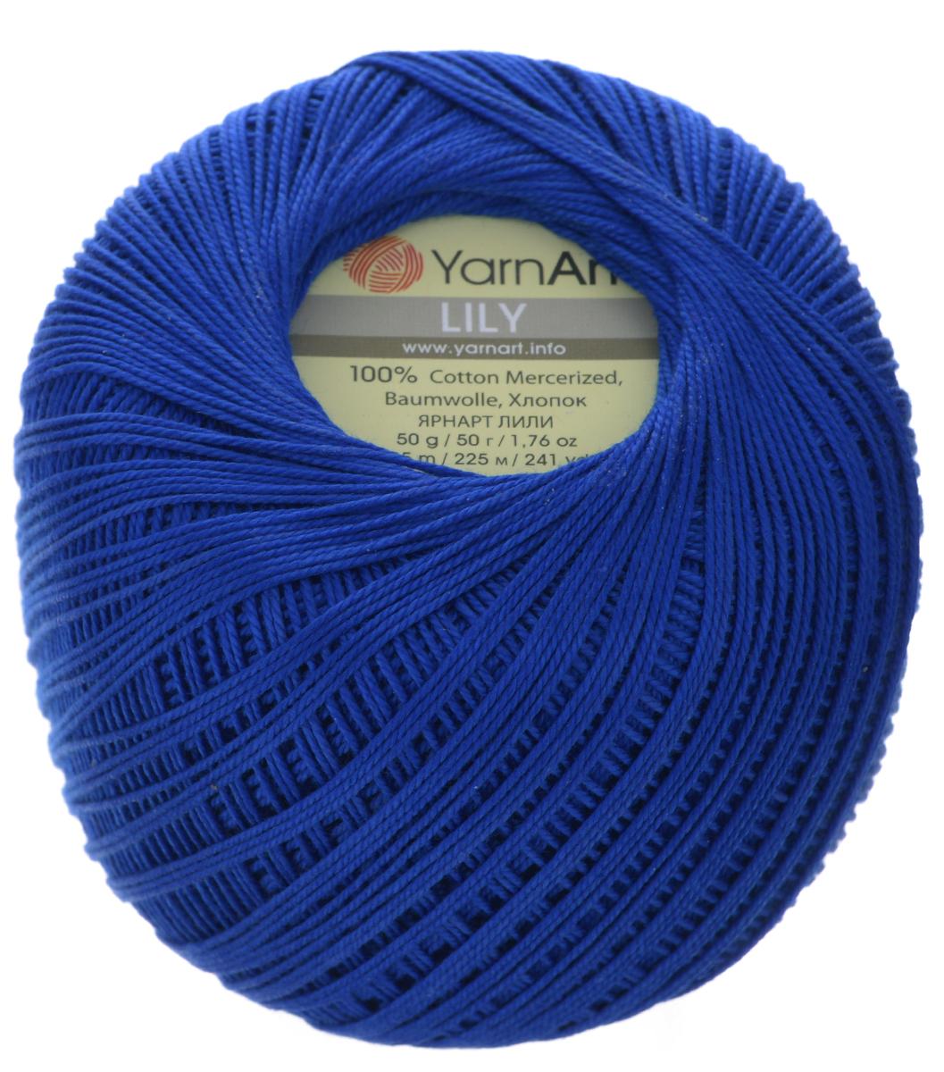 Пряжа для вязания YarnArt Lily, цвет: василек (4915), 225 м, 50 г, 8 шт пряжа для вязания yarnart baby color цвет белый черный 273 150 м 50 г 5 шт
