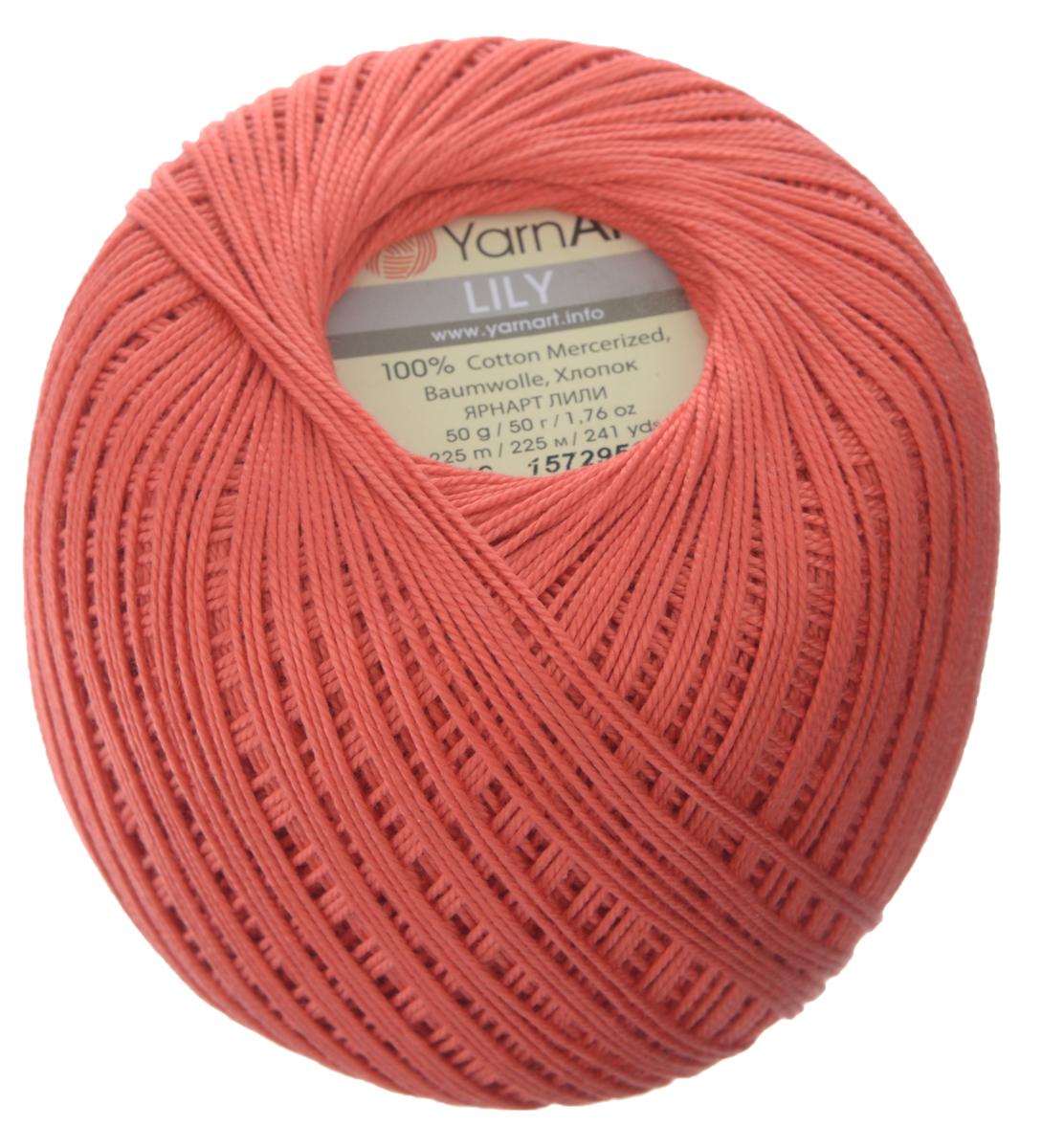 Пряжа для вязания YarnArt Lily, цвет: коралловый (4910), 225 м, 50 г, 8 шт372073_4910Пряжа YarnArt Lily - тонкая, гладкая и упругая пряжа из 100% мерсеризованного хлопка для вязания крючком и спицами. Нить хорошо скручена и не расслаивается. Это классическая пряжа, которая пользуется большой популярностью. Отлично подходит для вязания ажурных изделий. Замечательный вариант для вязания в технике ирландского кружева. Рекомендуется для вязания крючком 1,75-2 мм и на спицах 2,5 мм. Комплектация: 8 мотков. Толщина нити: 1 мм. Состав: 100% мерсеризованный хлопок.