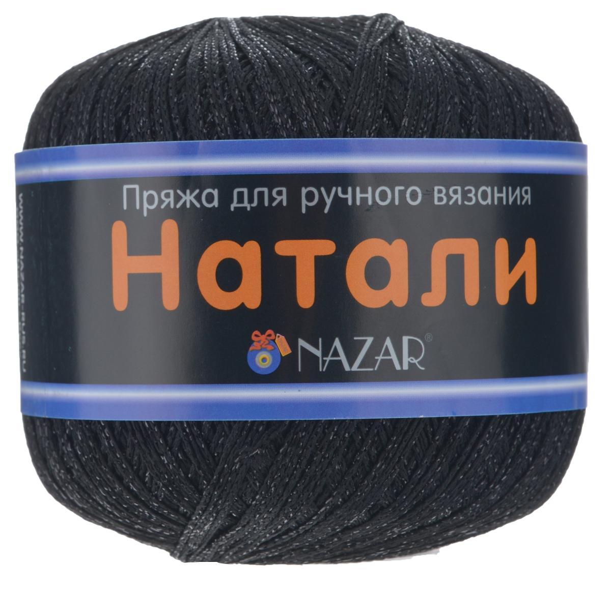 Пряжа для вязания Nazar Натали, цвет: черный (8009), 330 м, 50 г, 10 шт349004_8009 черн/черныйПряжа для вязания Nazar Натали изготовлена из 50% полиэстера, 50% люрекса. Эта пряжа подходит как для вязания одежды, так и для создания элементов декора. При плотном вязании эта пряжа очень хорошо держит заданную форму. Подходит для вязания на спицах и крючках 2,5-3 мм. Состав: 50% полиэстер, 50% люрекс. Комплектация: 10 шт. Толщина нити: 1 мм.
