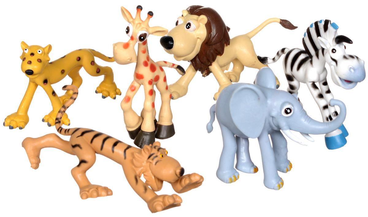 Top Toys Набор фигурок Дикие животныеGT4505/РF2901/6Набор фигурок Дикие животные от торговой марки Top Toys включает в себя несколько зверей - жителей африканских саванн: жирафа, зебру, льва, леопарда, тигра и слона. Они понравятся юным любителям живой природы. Изделия выполнены из высококачественных полимерных материалов и предназначены для ребят в возрасте от 3 лет.