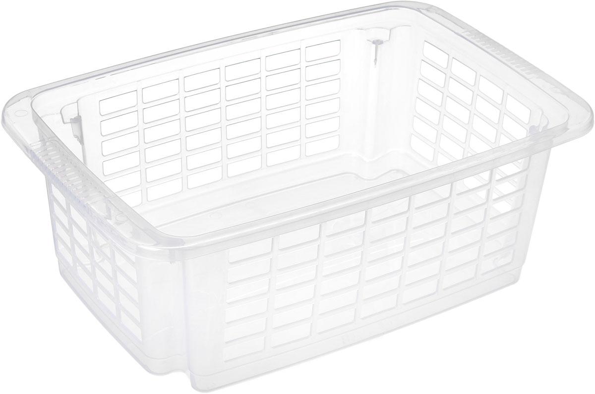 Корзина для хранения Dunya Plastik Стакер, цвет: прозрачный, 12 л5517_прозрачныйКлассическая корзина Dunya Plastik Стакер, изготовленная из пластика, предназначена для хранения мелочей в ванной, на кухне, даче или гараже. Позволяет хранить мелкие вещи, исключая возможность их потери. Это легкая корзина со сплошным дном и перфорированными стенками. Корзина имеет специальные выемки внизу и вверху, позволяющие устанавливать корзины друг на друга.