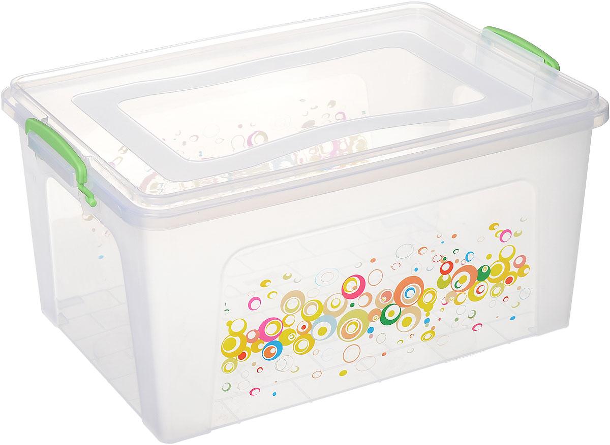 Контейнер Dunya Plastik Клиер Ниш, цвет: прозрачный, салатовый, 27 л30266_прозрачный ,салатовыйКонтейнер Dunya Plastik Клиер Ниш выполнен из прочного пластика. Он предназначен для хранения различных вещей. Крышка легко открывается и плотно закрывается. Прозрачные стенки позволяют видеть содержимое. По бокам предусмотрены две удобные ручки, с помощью которых контейнер закрывается. Контейнер поможет хранить все в одном месте, а также защитить вещи от пыли, грязи и влаги. Размер контейнера (с учетом крышки): 48 см х 32 см. Высота (с учетом крышки): 23 см. Объем: 27 л.
