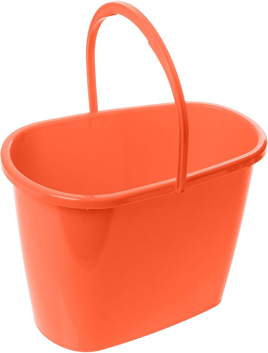 Ведро Centi, овальное, цвет: оранжевый, 8 л7108Овальное ведро Centi изготовлено из высококачественного пластика. Оно легче железного и не подвержено коррозии. Изделие оснащено удобной пластиковой ручкой. Такое ведро станет незаменимым помощником в хозяйстве. Размер ведра (по верхнему краю): 32 х 20 см. Высота стенок: 22,5 см.