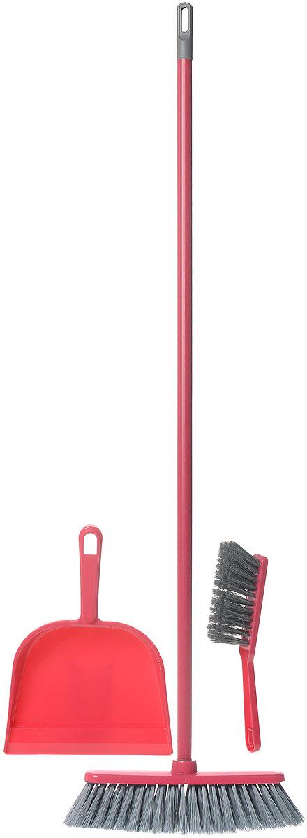 Набор для уборки York Combi, цвет: фуксия, серый, 3 предмета8201Набор York Combi состоит из совка, щетки-сметки и щетки-метелки, изготовленных из высококачественного пластика и сложных полимеров. Вместительный совок удерживает собранный мусор и позволяет эффективно и быстро совершать уборку в любом помещении. Сглаженный край совка обеспечивает наиболее плотное прилегание к полу. Щетка-метелка имеет удобную форму, позволяющую вымести мусор даже из труднодоступных мест. Щетка-сметка предназначена для уборки небольших поверхностей. Все предметы набора оснащены ручками с отверстиями для подвешивания. С набором York Combi уборка станет легче и приятнее. Общая длина щетки-метелки: 113 см. Длина ворса щетки-метелки: 6 см. Общая длина щетки-сметки: 26 см. Длина ворса щетки-сметки: 4,5 см. Длина совка: 31 см. Размер рабочей части совка: 18 см х 18 см х 5,5 см.