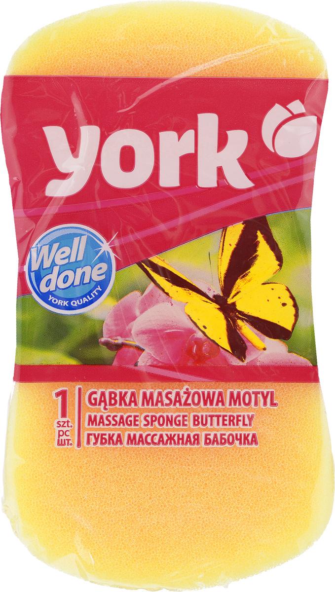 Губка для тела York Бабочка, цвет: желтый, 16 х 9 х 5 см1103_желтыйГубка для тела York Бабочка изготовлена из мягкого полимера. Форма в виде бабочки отлично подходит для мытья и массажа тела. Губка двухслойная. Мягкий деликатный слой бережно очищает, а шероховатый пористый слой стимулирует кровообращение и удаляет омертвевшие клетки кожи. Губка создает воздушную пену даже при небольшом количестве геля для душа. Эффективно очищает и массирует кожу, повышая тонус.