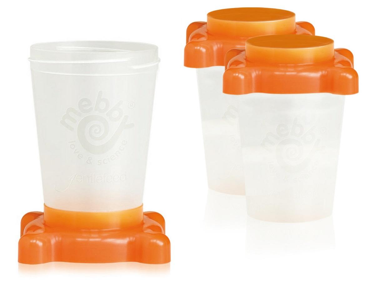 Mebby Набор контейнеров для хранения молока 3 шт цвет оранжевый915473 контейнера для хранения молока (детского питания)