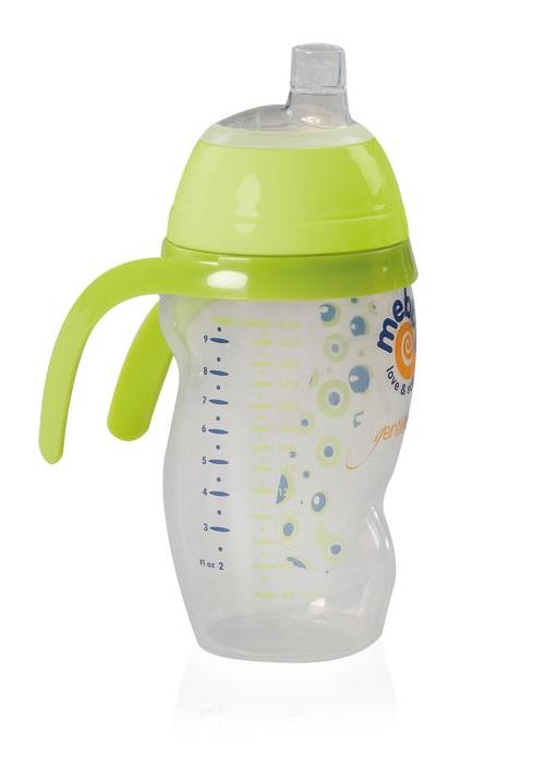 Mebby Чашка-поильник Made in Italy от 6 месяцев цвет зеленый92608Чашка поилка-непроливайка