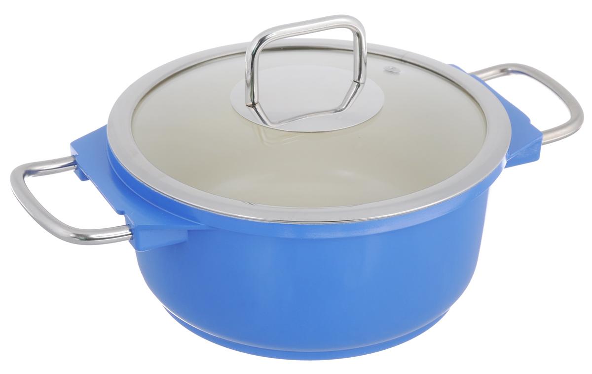 Кастрюля Mayer & Boch с крышкой, с керамическим покрытием, цвет: синий, 2,5 л21236Кастрюля Mayer & Boch изготовлена из высококачественной пищевой нержавеющей стали. Яркая эмалированная внешняя поверхность придает ей привлекательный внешний вид. Внутренняя поверхность с керамическим покрытием идеально ровная, что значительно облегчает мытье. Энергосберегающее капсульное алюминиевое дно быстро и равномерно распределяет тепло. Крышка, выполненная из термостойкого стекла, позволит вам следить за процессом приготовления пищи. Она имеет отверстие для выхода пара и металлический обод, также плотно прилегает к краю кастрюли, предотвращая проливание жидкости и сохраняя аромат блюд. Подходит для использования на всех типах плит, кроме индукционных. Можно мыть в посудомоечной машине. Диаметр кастрюли (по верхнему краю): 20 см. Ширина кастрюли (с учетом ручек): 31,5 см. Высота стенки: 9,5 см. Толщина стенки: 3 мм. Толщина дна: 5 мм.
