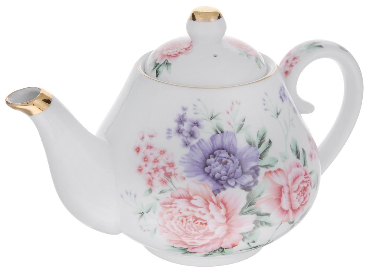 Чайник заварочный Loraine Цветы, 1 л24562Заварочный чайник Loraine Цветы изготовлен из высококачественной керамики. Внешние стенки оформлены красочным изображением цветов и золотистым орнаментом. Гладкая и идеально ровная поверхность обеспечивает легкую очистку. Чайник поможет заварить крепкий ароматный чай и изысканно украсит стол к чаепитию. Не использовать в микроволновой печи и посудомоечной машине. Изделие упаковано в подарочную коробку с атласной подложкой. Диаметр чайника (по верхнему краю): 7,5 см. Высота чайника (без учета крышки): 10,5 см.