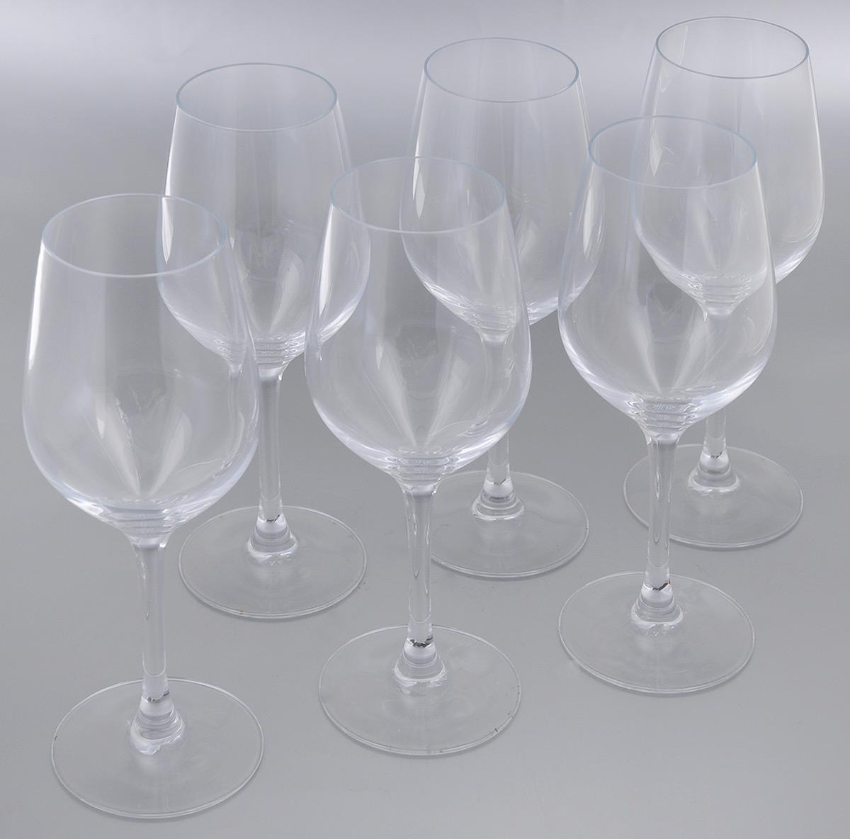 Набор фужеров для вина Luminarc Hermitage, 350 мл, 6 штH2600Набор Luminarc Hermitage состоит из шести фужеров, выполненных из прочного стекла. Изделия оснащены высокими ножками. Фужеры предназначены для подачи вина. Они сочетают в себе элегантный дизайн и функциональность. Благодаря такому набору пить напитки будет еще вкуснее. Набор фужеров Luminarc Hermitage прекрасно оформит праздничный стол и создаст приятную атмосферу за романтическим ужином. Такой набор также станет хорошим подарком к любому случаю. Можно мыть в посудомоечной машине. Диаметр фужера (по верхнему краю): 5,5 см. Высота фужера: 22 см.