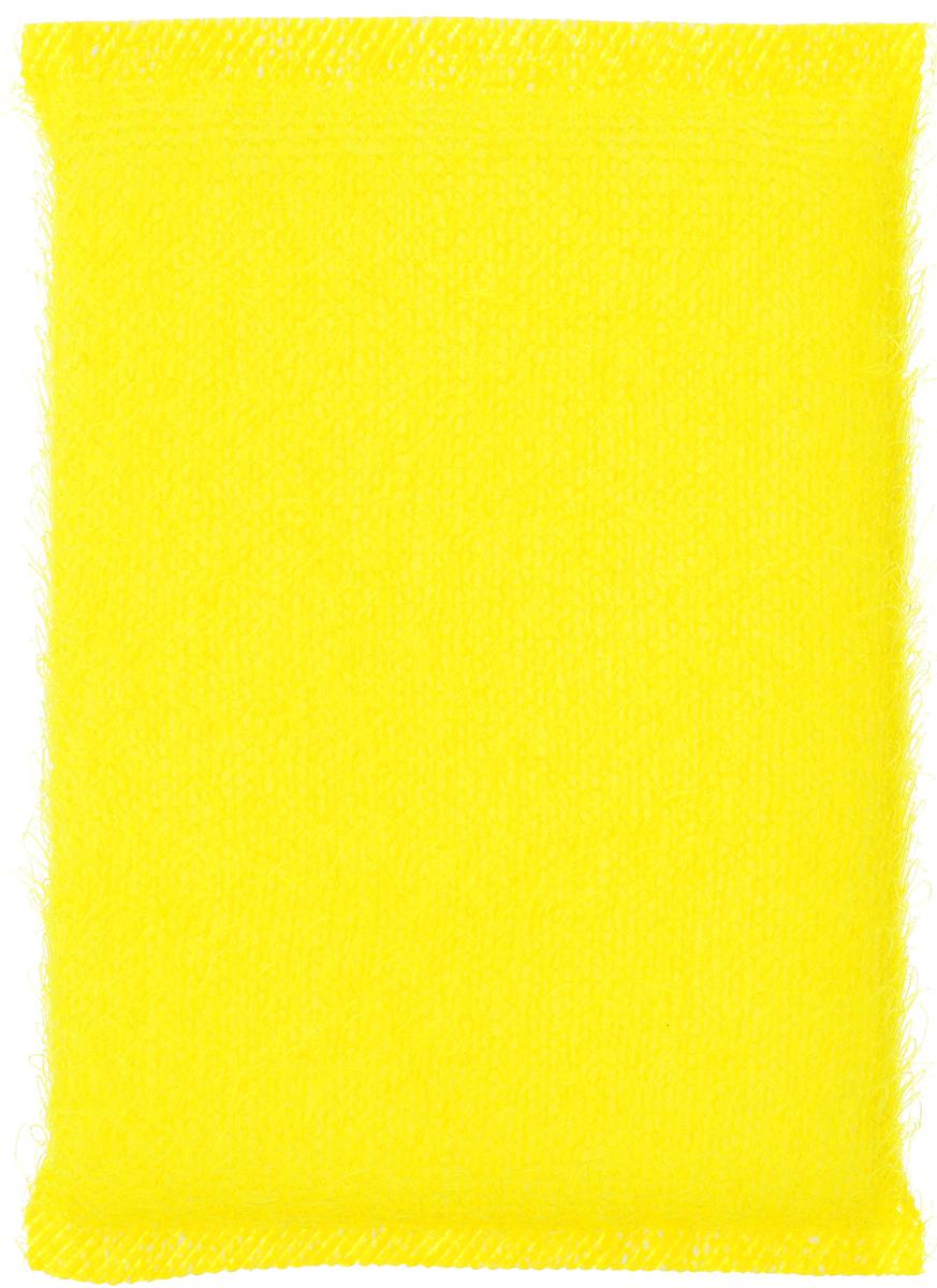 Губка для мытья посуды Home Queen, в ворсистой сетке, цвет: желтый38_желтыйГубка для мытья посуды Home Queen изготовлена из поролона в ворсистой сетке из полипропиленовой металлизированной нити. Предназначена для мытья посуды и кухонных поверхностей. Удобна в применении. Позволяет экономить моющее средство, благодаря структуре поролона, который дает много пены при использовании. Материал: полипропиленовая металлизированная нить, поролон. Размер губки: 12 см х 9 см х 2 см.