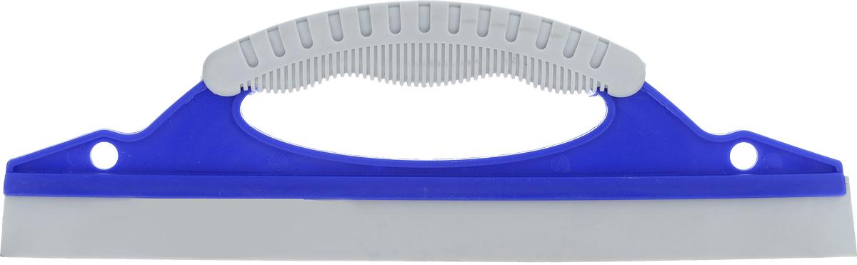 Водосгон Sapfire, с резиновым лезвием, цвет: синий, серый, 31 см х 9,7 см х 2 см