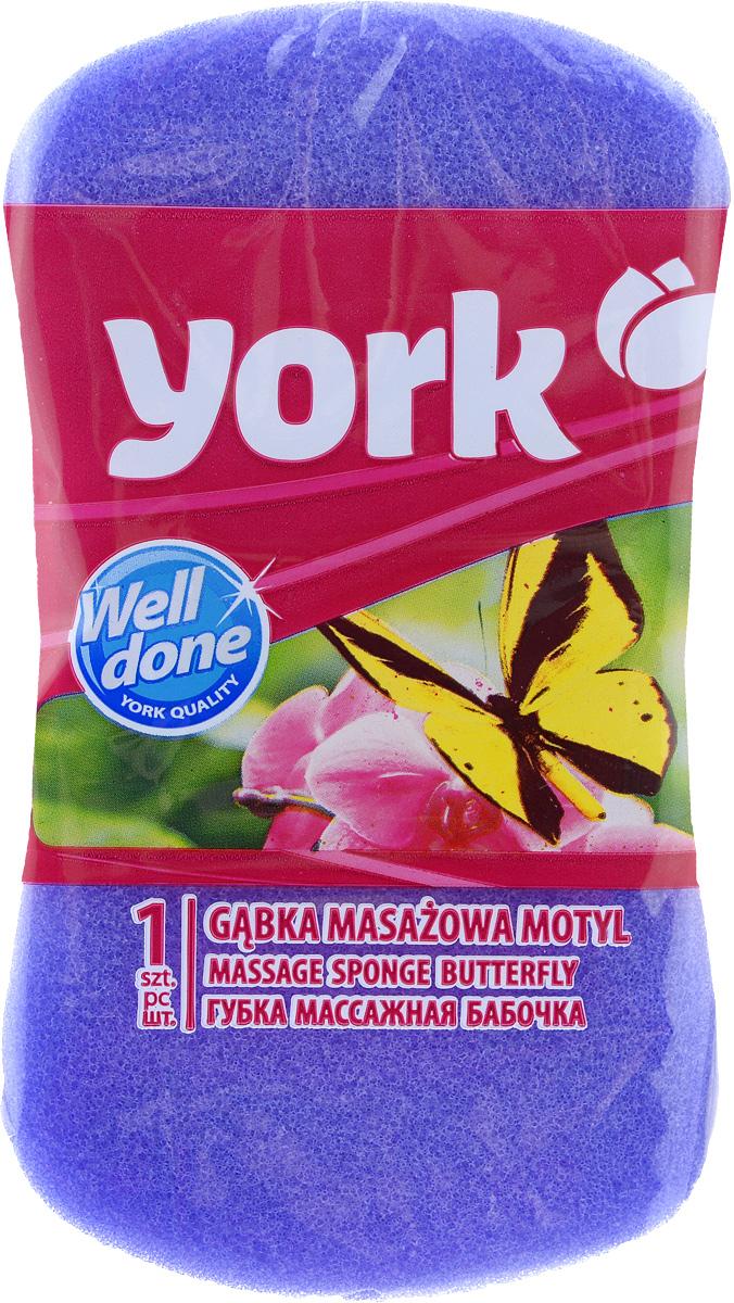 Губка для тела York Бабочка, цвет: фиолетовый, 16 х 9 х 5 см1103_фиолетовыйГубка для тела York Бабочка изготовлена из мягкого полимера. Форма в виде бабочки отлично подходит для мытья и массажа тела. Губка двухслойная. Мягкий деликатный слой бережно очищает, а шероховатый пористый слой стимулирует кровообращение и удаляет омертвевшие клетки кожи. Губка создает воздушную пену даже при небольшом количестве геля для душа. Эффективно очищает и массирует кожу, повышая тонус.