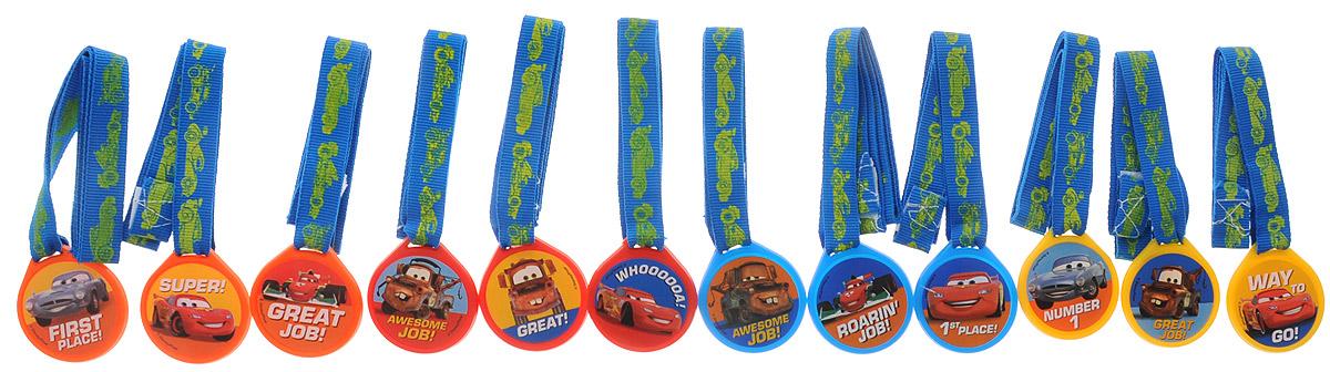 Веселая затея Медаль Disney Тачки 12 шт1507-0846Комплект медалей Веселая затея Disney: Тачки включается в себя 12 пластиковых медалей с красными ленточками для участников конкурсов с изображением героев мультфильма Тачки. В комплекте 3 синие, 3 красные, 3 оранжевые, 3 желтые медали. Надписи на медалях также различаются: First Place!, Great Job!, Awesome Job!, Way To Go!, Great!, Super!. Никто не уйдет без награды!