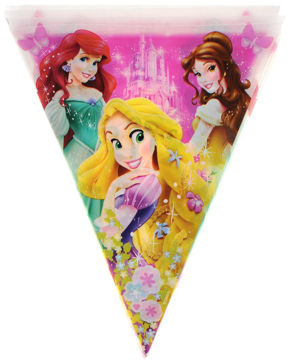 Веселая затея Гирлянда-вымпел Disney Принцессы1505-0Гирлянда-вымпел Веселая затея С днем рождения: Disney Принцессы выполнена из полиэтилена и украшена изображениями принцесс из диснеевских сказок. Гирлянда скрепляется с помощью полиэтиленовой ленты, прошитой нитью. Такая гирлянда украсит ваш праздник и подарит отличное настроение. Длина гирлянды: 360 см. Размер вымпела: 27,5 см х 22 см.