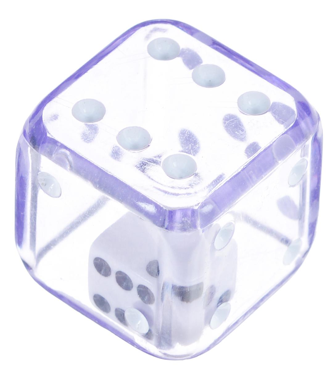 Koplow Games Кость игральная Кубик в кубике D6 цвет сиреневый ( 11687_сиреневый )