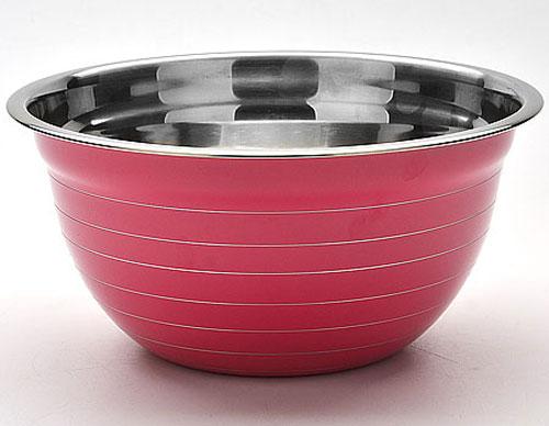 Миска Mayer & Boch, цвет: фуксия, диаметр 22 см30216_фуксияКруглая миска Mayer & Boch изготовлена из высококачественной нержавеющей стали. Изделие очень функционально, оно пригодится на кухне для самых разнообразных нужд: в качестве салатника, миски, тарелки и многого другого. Диаметр (по верхнему краю): 22 см.
