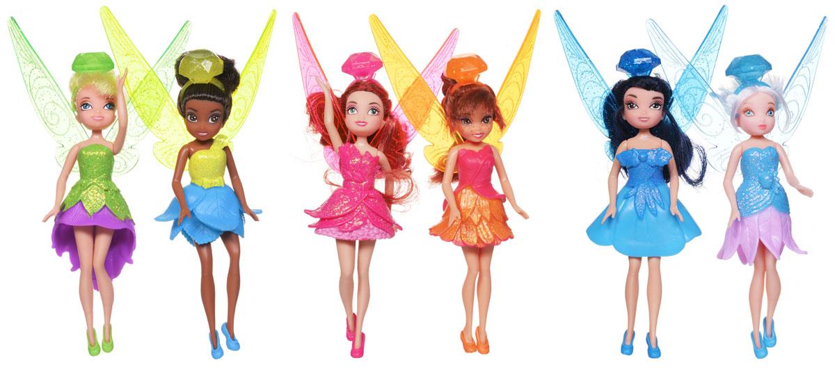 Disney Fairies Набор кукол Феи Диснея 6 шт688710Очаровательные куклы Феи Диснея непременно привлекут внимание вашей малышки. Набор состоит из шести мини-кукол в блестящих нарядах и ободках из драгоценных камней: Динь-Динь (изумруд), Незабудка (аметист), Серебрянка (голубой сапфир), Иридесса (топаз), Розетта (рубин), Фауна (желтый сапфир). Ободки кукол девочка может носить как колечки. С таким набором ваша дочурка будет придумывать множество различных историй, развивая воображение. Порадуйте свою малышку таким замечательным подарком!
