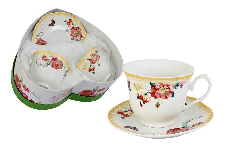 Набор: 2 чашки + 2 блюдца Солнечный день. C-016LK-12-4ALC-016LK-12-4ALПосуда для чая и сервировки стола торговой марки Colombo изготовлена из костяного фарфора. Широкий ассортимент (от отдельных предметов до сервизов) и разнообразие мотивов для декора (от классических до современных) позволяет составить набор в соответствии с запросом и вкусом клиента, а красивая упаковка - подобрать подарок к любому торжеству. Высокое качество изделий достигается благодаря использованию новейших технологий при изготовлении посуды, а также строгому контролю на всех этапах производственного процесса на фабрике. Рекомендуется мыть в теплой воде с применением мягких моющих средств.