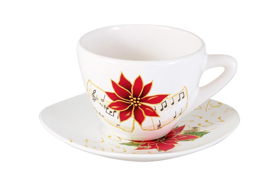 Чашка с блюдцем Стелла. CV2-1203-S-AL
