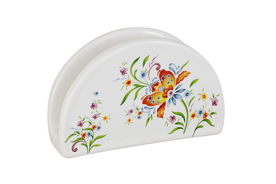 Салфетница Imari АквитанияIMF0080-DA2099ALСалфетница Imari Аквитания изготовлена из глазурованной керамики белого цвета и оформлена ярким цветочным рисунком. Такая салфетница изящно украсит ваш кухонный стол. Можно мыть в посудомоечной машине.