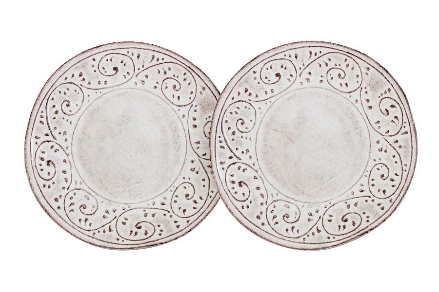 Набор из 2-х десертных тарелок Медичи. LCS253F-ME-ALLCS253F-ME-ALLCS - молодая, динамично развивающаяся итальянская компания из Флоренции, производящая разнообразную керамическую посуду и изделия для украшения интерьера. В своих дизайнах LCS использует как классические, так и современные тенденции. Высокий стандарт изделий обеспечивается за счет соединения высоко технологичного производства и использования ручной работы профессиональных дизайнеров и художников, работающих на фабрике.