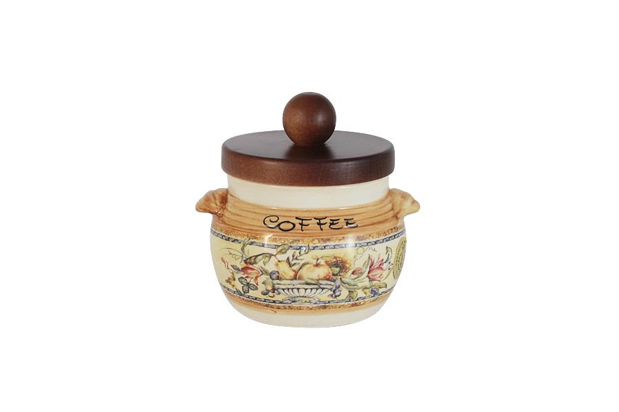 Банка для сыпучих продуктов LCS Старая Тоскана, 500 млLCS670PLC-OT-ALБанка для сыпучих продуктов LCS Старая Тоскана изготовлена из высококачественной керамики. Банка имеет деревянную крышку. Изделие подходит для хранения различных сыпучих продуктов, например, кофе, сахара, специй, круп. Банка для сыпучих продуктов LCS Старая Тоскана превосходно впишется в интерьер кухни и столовой как в городской квартире, так и в дачном домике, и загородном коттедже.
