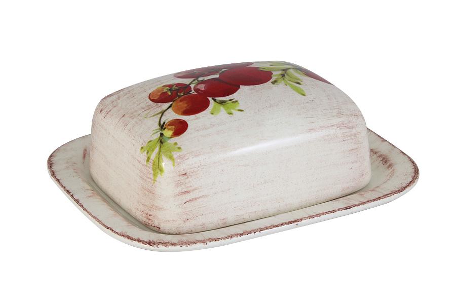 Масленка LCS Овощное ассортиLCS874B-VE-ALВеликолепная масленка LCS Овощное ассорти, выполненная из высококачественной керамики, предназначена для красивой сервировки и хранения масла. Она состоит из подноса и крышки. Масло в ней долго остается свежим, а при хранении в холодильнике не впитывает посторонние запахи. Масленка LCS Овощное ассорти идеально подойдет для сервировки стола и станет отличным подарком к любому празднику. Размер подноса (по верхнему краю): 17 х 15 см.