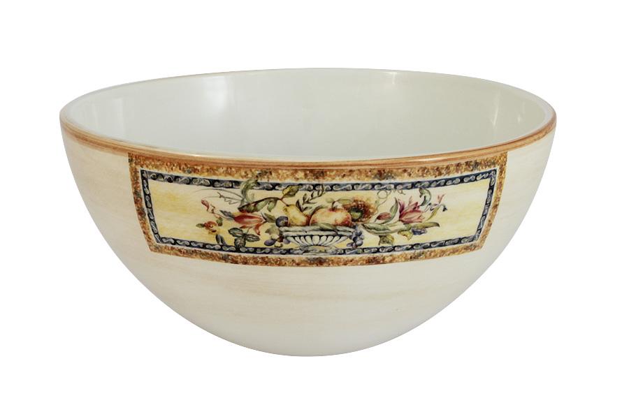 Салатник LCS Старая Тоскана, диаметр 20 смLCS938-OT-ALСалатник LCS Старая Тоскана, изготовленный из высококачественной керамики, прекрасно впишется в интерьер любой кухни и станет достойным дополнением к кухонному инвентарю. Изделие, оформленное красивым изображением фруктов и цветов, имеет изысканный внешний вид. Такой салатник не только украсит ваш кухонный стол и подчеркнет прекрасный вкус хозяйки, но и станет отличным подарком для ваших родных и близких. Диаметр салатника (по верхнему краю): 20 см.