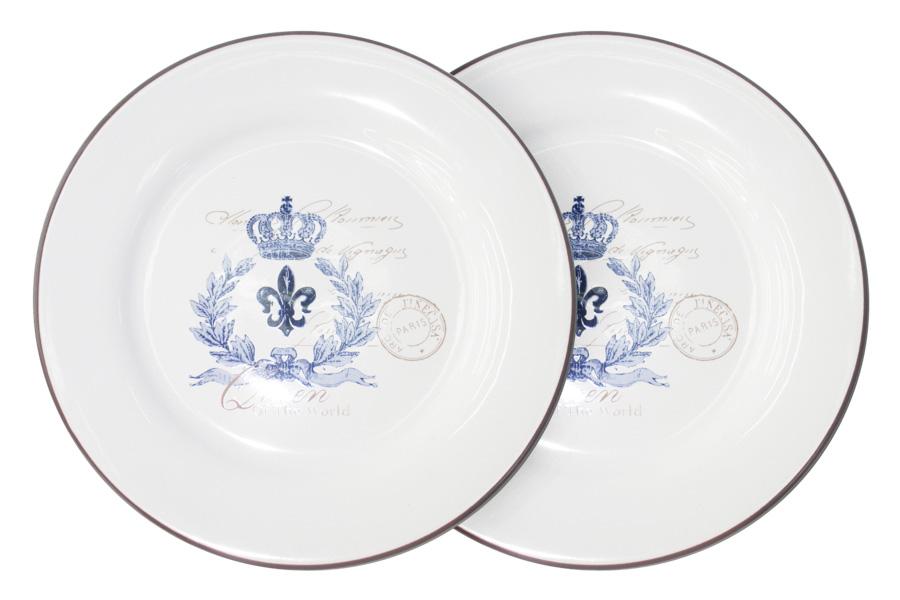 "Набор обеденных тарелок LF Ceramic ""Королевский"", диаметр 25 см, 2 шт"