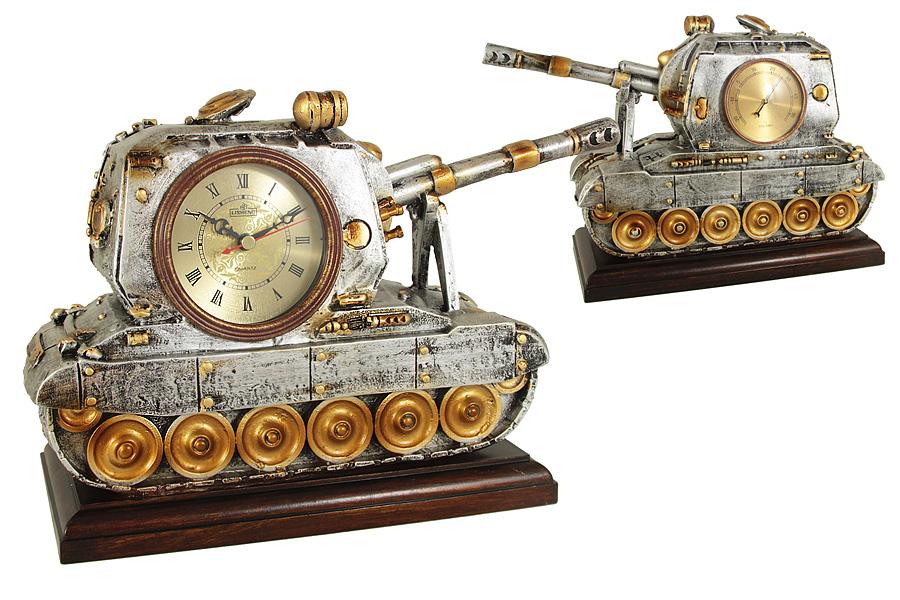 Часы настольные с термометром Танк. LI-1402M-ALLI-1402M-ALКомпания LISHENG – частное предприятие, в течение многих лет специализирующееся на производстве предметов интерьера из полирезина. Основные направления ассортимента: настенные, настольные и напольные часы, светильники, телефоны в стиле ретро, фонтаны, разнообразные украшения для дома. Передовые технологии и инновационные идеи позволяют мастерам компании в полной мере проявить свое искусство и изобретательность при создании предметов интерьера. Все модели имеют оригинальный фигурный корпус, выполненный из полирезина - экологичного и безвредного полимерного материала, высокие гигиенические качества которого заключаются в отсутствии запаха и легкости ухода за поверхностями изделия. Во всех часах установлен высококачественный кварцевый механизм. Некоторые модели дополнительно снабжены термометром.