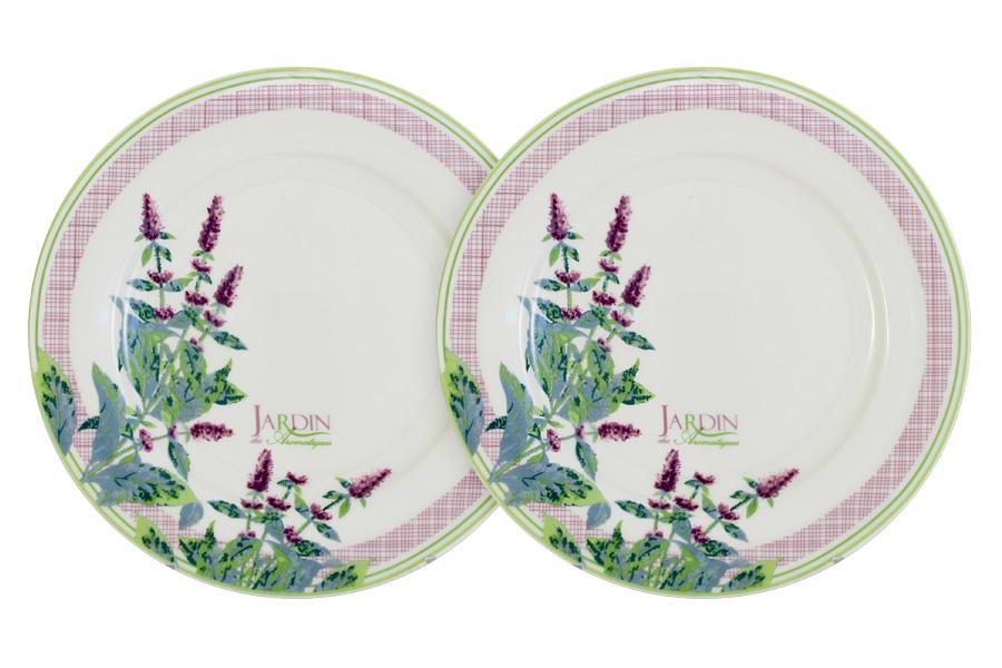 Набор обеденных тарелок Primavera Жардин, диаметр 20,5 см, 2 штPF-15-001-6-ALНабор Primavera Жардин, выполненный из высококачественного фарфора, состоит из 2 обеденных тарелок и предназначен для красивой сервировки различных блюд. Изделия украшены цветочным изображением и имеют изысканный внешний вид. Набор сочетает в себе стильный дизайн с максимальной функциональностью. Оригинальность оформления придется по вкусу и ценителям классики, и тем, кто предпочитает утонченность и изящность. Диаметр (по верхнему краю): 20,5 см.