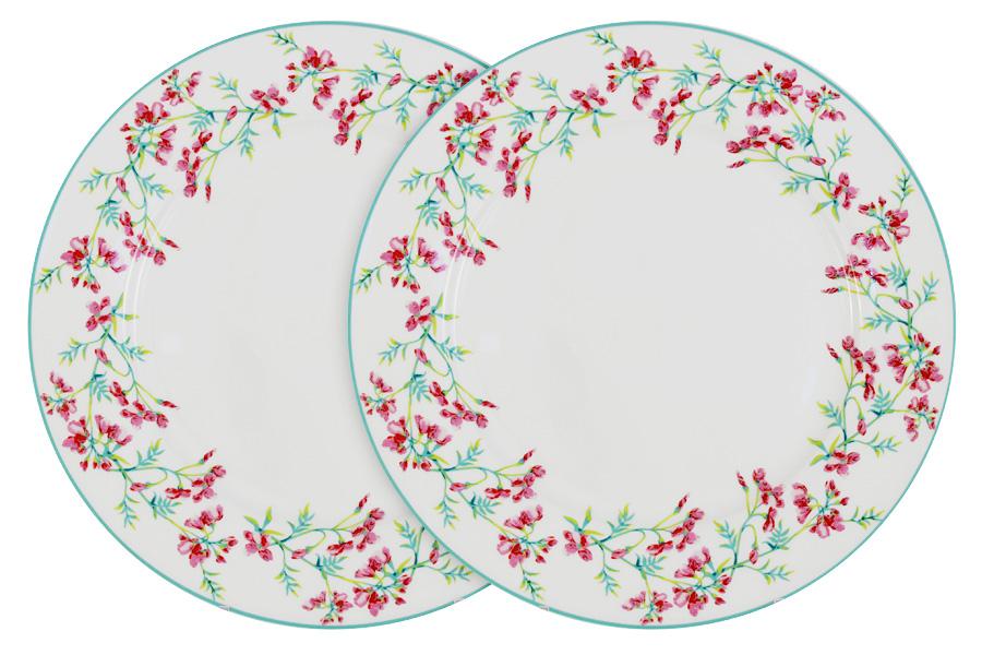 Набор обеденных тарелок Primavera Цветущий горошек, диаметр 27 см, 2 штPF-15-029-4-ALНабор Primavera Цветущий горошек, выполненный из высококачественного фарфора, состоит из 2 обеденных тарелок и предназначен для красивой сервировки различных блюд. Изделия украшены цветочным изображением и имеют изысканный внешний вид. Набор сочетает в себе стильный дизайн с максимальной функциональностью. Оригинальность оформления изделий придется по вкусу и ценителям классики, и тем, кто предпочитает утонченность и изящность. Диаметр (по верхнему краю): 27 см.