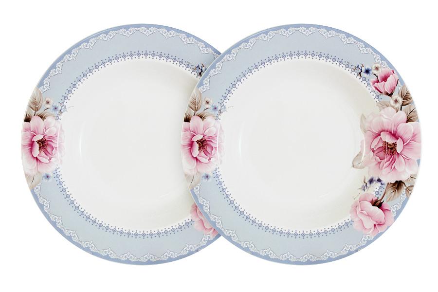 Набор из 2-х суповых тарелок Розовый блюз. PW-NBCP85-112-ALPW-NBCP85-112-ALОбеденные и чайные сервизы торговой марки Primavera изготовлены из качественного костяного фарфора. Посуда подходит для ежедневного использования, благодаря отсутствию серебряной и золотой отделки посуду можно мыть в посудомоечной машине, а также использовать в микроволновой печи.